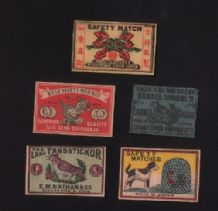 Rare match box labels CHINA or JAPAN patriotic  #224